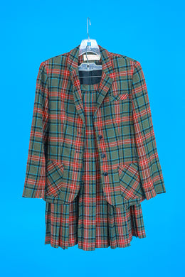 Pendleton brown and green plaid 2 piece Suit