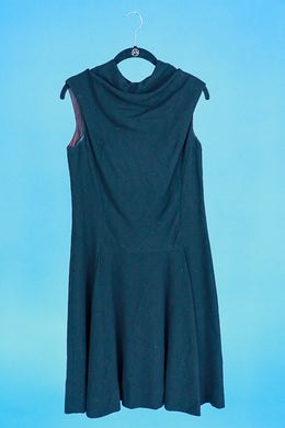 Bonwit Teller Black Vintage Wool Dress