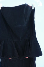 1990s Velvet peplum dress by Ann Taylor