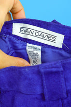 Evan Davies Purple Suede Shorts