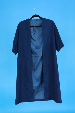 Navy wool duster