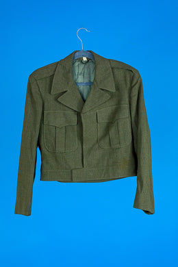 Wool Army Cropped Jacket