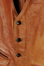 Brown Leather Vest