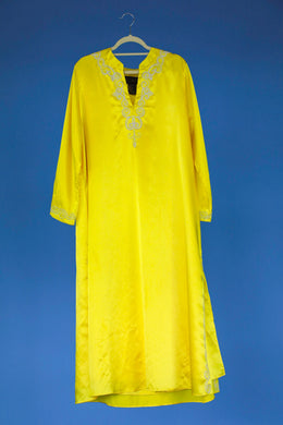 Yellow Caftan by Iman