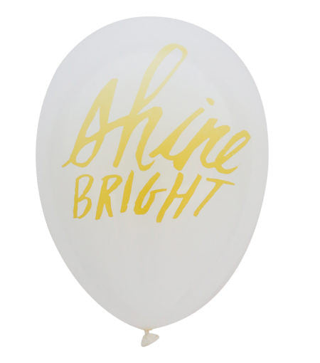 """Merci"" or ""Shine Bright"" Balloon - Deanna Burks Design"