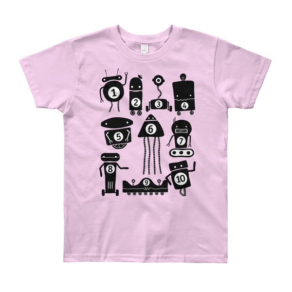 Little 10 Robot t-shirt, app company, Apps for kids. Kid apps, educational apps, kid clothing, kid shirt
