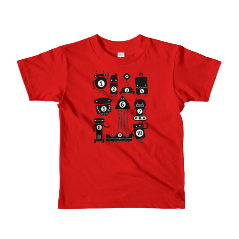 10 Little Robots Shirt (Kids)