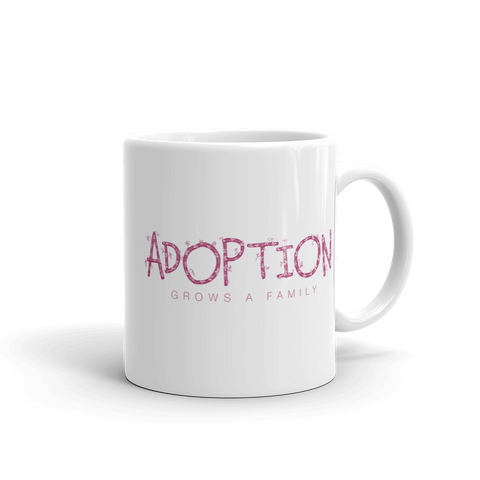 Adoption mug. Adoption Day Mug. Adoption Gifts. Adoption Grows a Family. Loves Makes a Family. Adoption Rocks. Adoption Love.