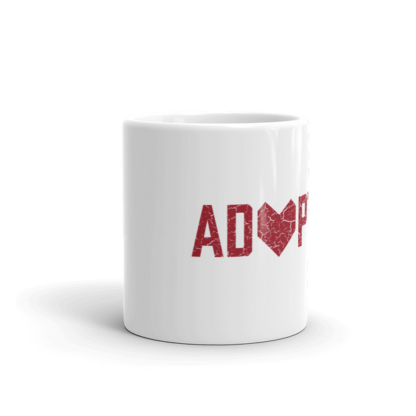 Adoption mug. Adoption Day mug. Adoption. Adoption Takes Heart. Loves Makes a Family. Family Seal.