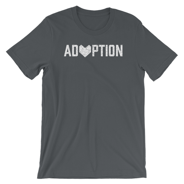 Gray Adoption T-shirt.
