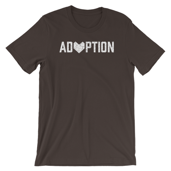Brown Adoption T-shirt.