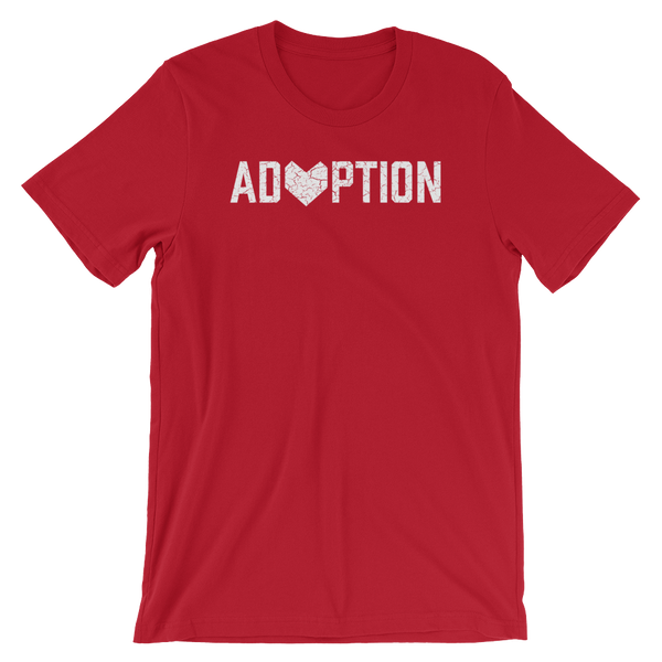 Red Adoption T-shirt.