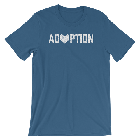 Steel Blue Adoption T-shirt.