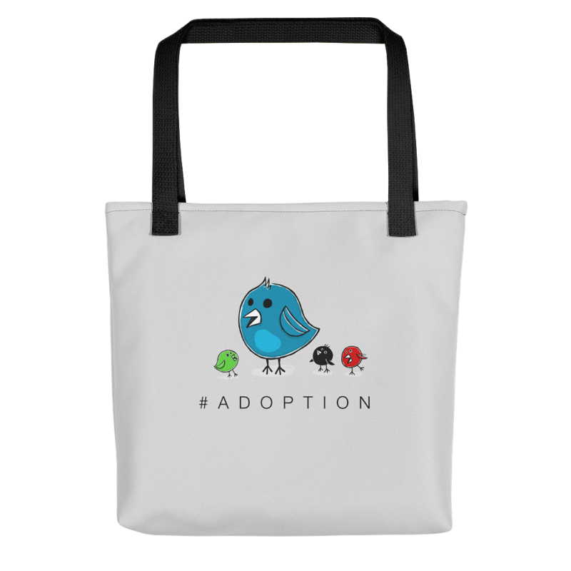 #Adoption tote.