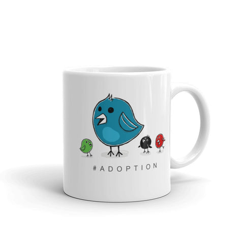 #Adoption. Hashtag Adoption Mug. Twitter Mug.