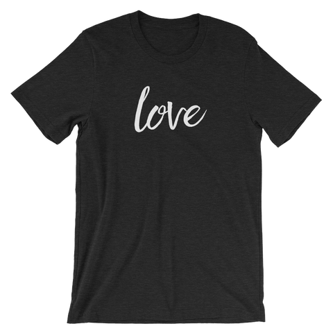 Black Heather Unisex Love t-shirt