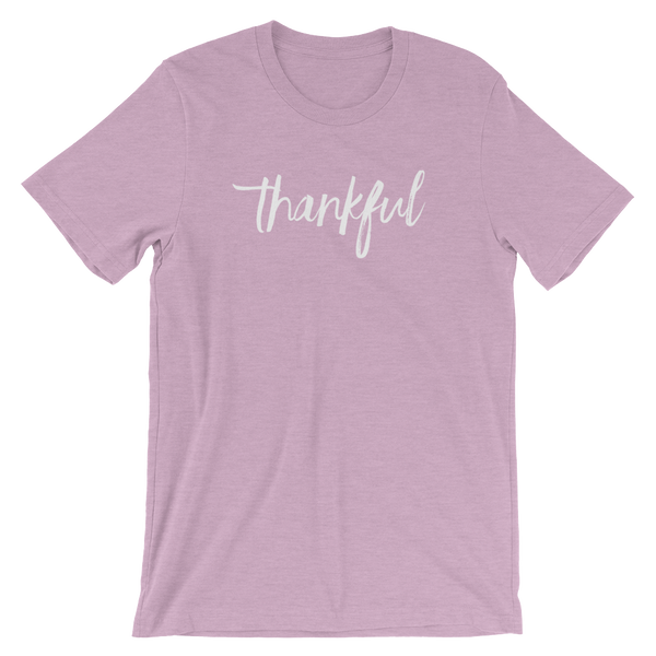 Heather Prism Lilac Unisex Thankful t-shirt