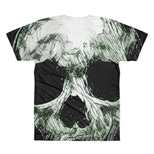 Skull Face Unisex 3D Polyester Lightweight T-Shirt , XS - 2XL back