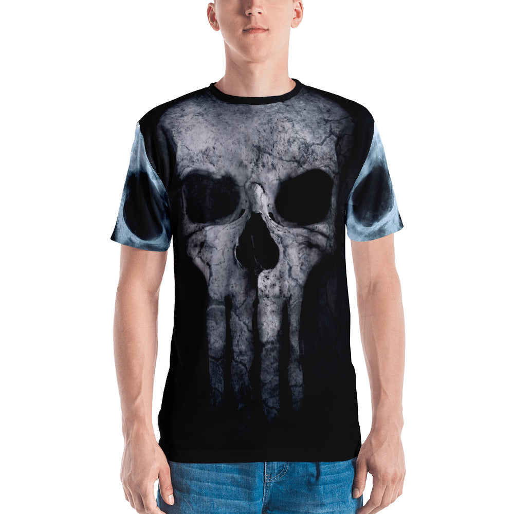 Bad A** Skull 3D Premium Knit Four-Way Stretch Fabric Jersey, XS - 2XL