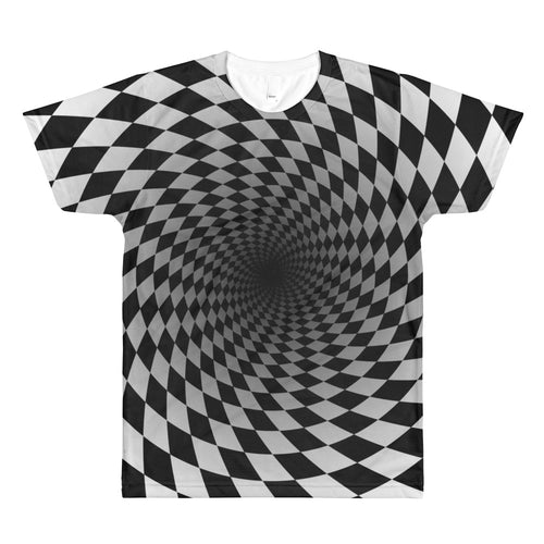 Checkers Abyss 3D Unisex Lightweight Polyester T-Shirt, XS - XL
