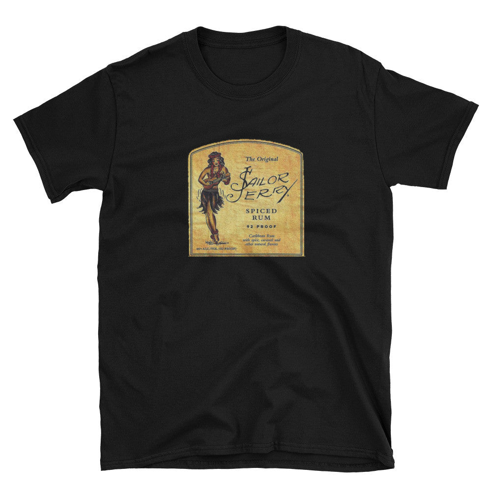81f38d6ae799 Vintage Sailor Jerry Unisex 100% Cotton Black Navy T-Shirt