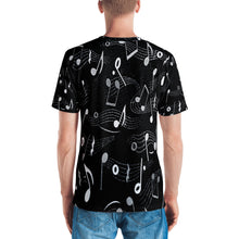 Music Notes 3D Unisex Four-Way Stretch Polyester Blend Jersey, XS - 2XL