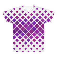 Purple Menace 3D Unisex Lightweight Polyester T-Shirt, XS - XL