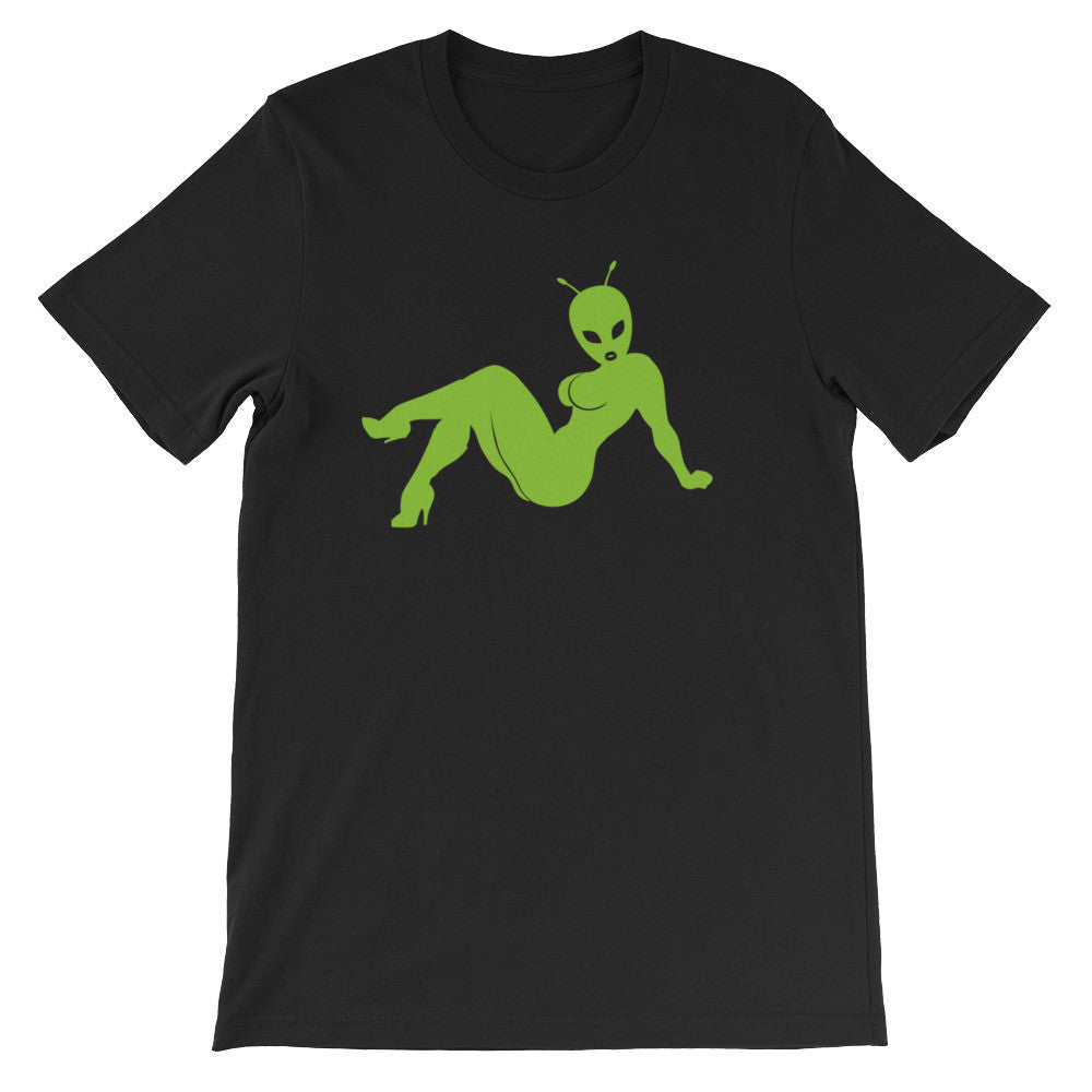 Sexy Alien Unisex 100% Cotton T-Shirt, Black,Navy, Brown & Green  S-3XL