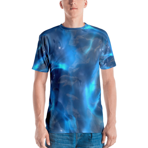 Blue Waves Purity, Lightweight Polyester Raver Unisex 3D T-Shirt