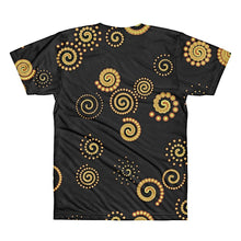 Black/Yellow Spirals 3D T-Shirt by diablotees