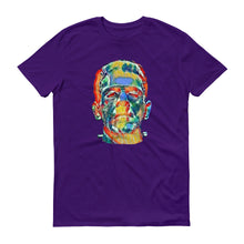 Psychedelic Frankenstein Unisex 100% Cotton T-Shirt,Black, Purple