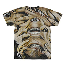 Weird Creepy Faces Unisex Lightweight Polyester 3D T-Shirt, XS - 2XL
