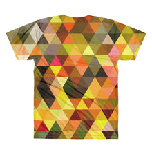 Orange Triangles Unisex Lightweight Polyester 3D T-Shirt, XS - 2XL back