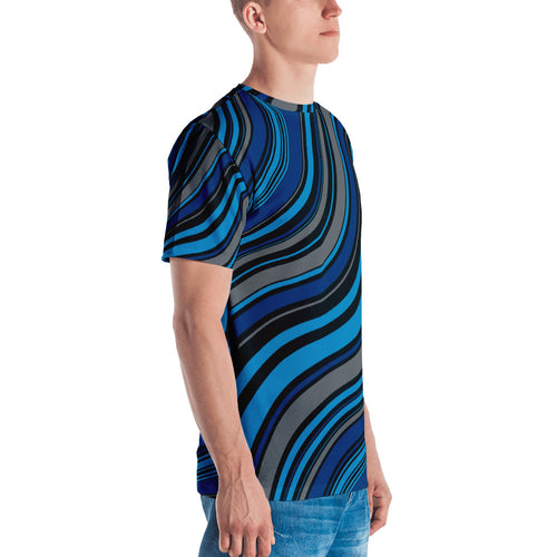 Blue Dunes 3D Unisex Four-Way Stretch Polyester Blend Jersey