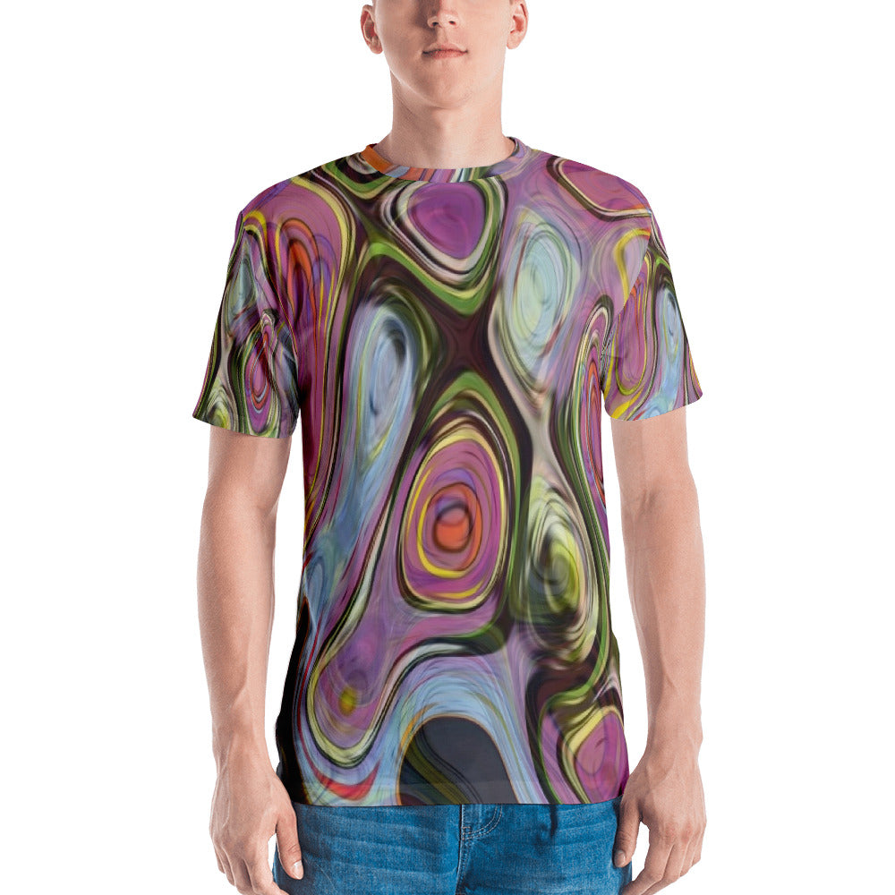 Abstract Trip 3D Unisex Four-Way Stretch Polyester Blend Jersey, XS - 2XL