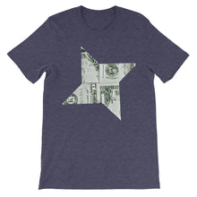 Star Dollar Unisex 100% Cotton T-Shirt,  Black, Navy, White, Grey & Green, S- 3XL