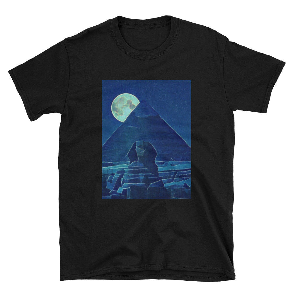 Mystic Egyptian Nights Unisex 100% Cotton T-Shirt, Black, S - 3XL