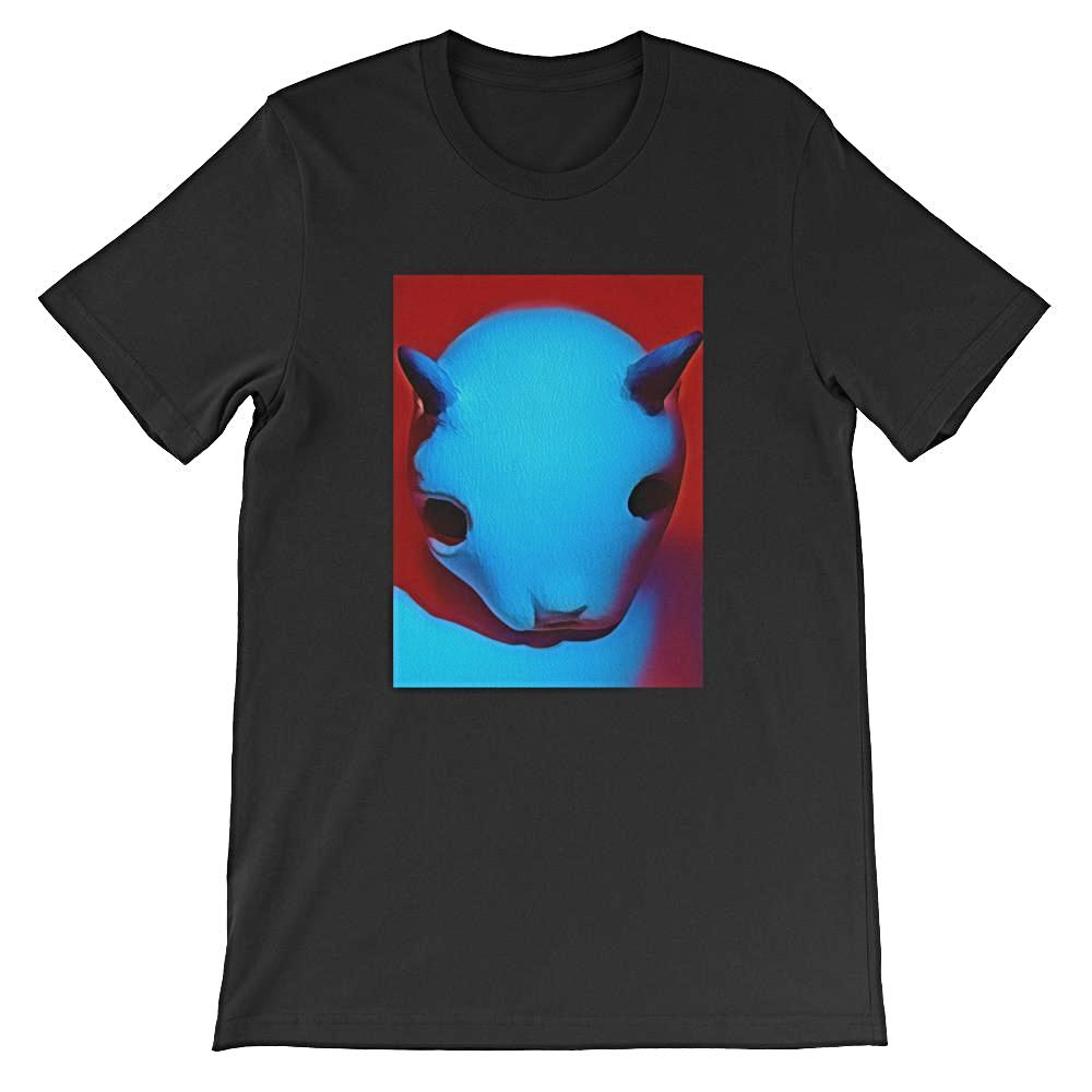 Cuernos (Horns) Unisex Short Sleeve 100% Cotton T-shirt, Black S - 4XL