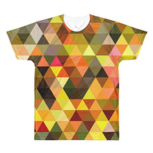 Orange Triangles Unisex Lightweight Polyester 3D T-Shirt, XS - 2XL