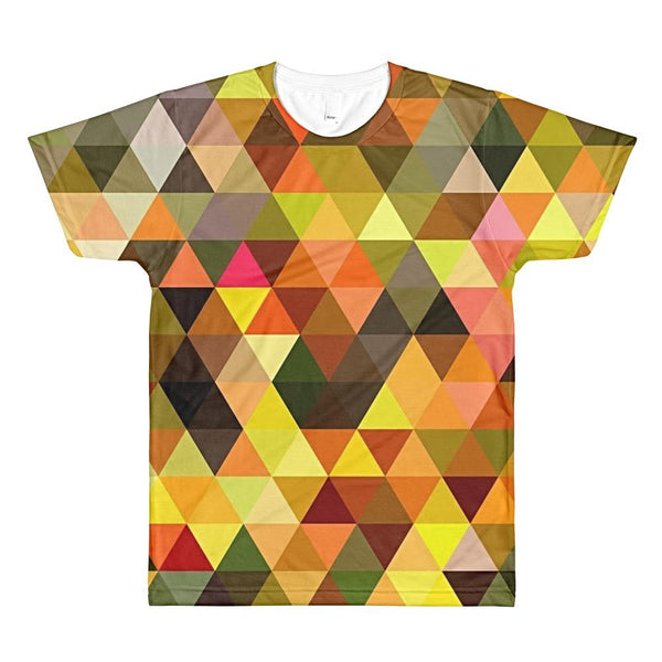 Orange Triangles 3D T-Shirt by diablotees