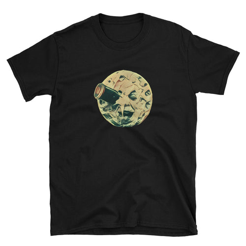 Moon Eye Unisex 100% Cotton T-Shirt , Black or Navy, S - 3XL black