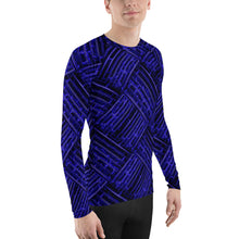 Blue Cubes 3D Unisex Four-Way Stretch Polyester Blend Long Sleeve Jersey,  XS - 3XL