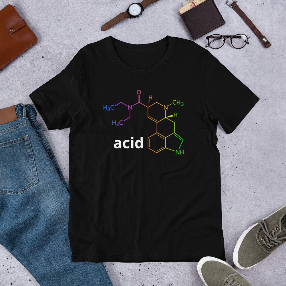 Acid Compound Short-Sleeve Unisex 100% Cotton T-Shirt