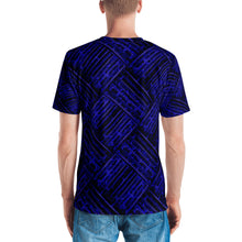 Blue Cubes 3D Unisex Four-Way Stretch Polyester Blend Jersey, XS - 2XL