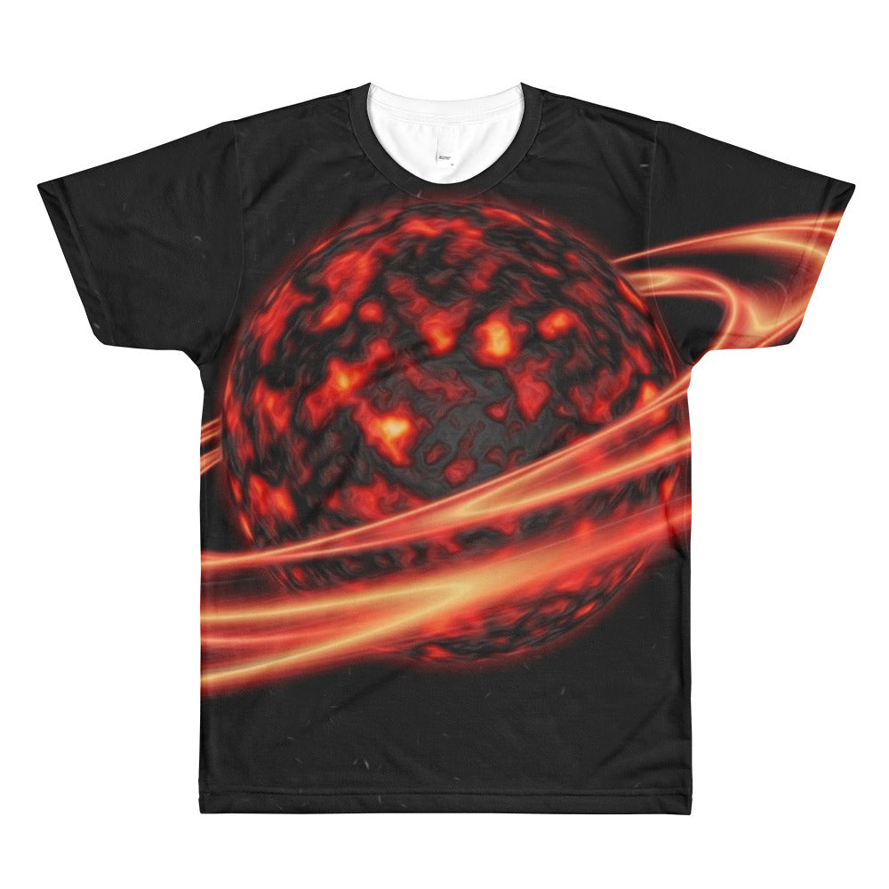 Red Planet Unisex Lightweight Polyester 3D T-Shirt, XS - 2XL