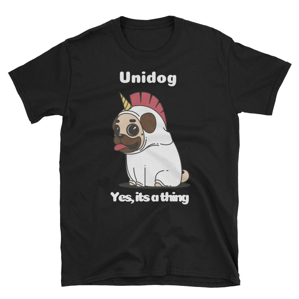 Unidog Unisex Unisex 100% Cotton Black T-Shirt, S- 3XL
