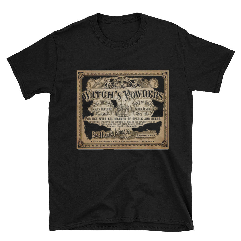 Witch Powders Unisex Vintage 100% Cotton T-Shirt /   S- 3XL