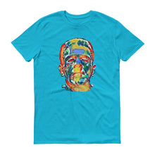 Psychedelic Frankenstein Unisex 100% Cotton T-Shirt, Blue S- 3XL