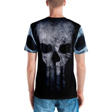 Bad A** Skull 3D Premium Knit Four-Way Stretch Fabric Jersey, XS - 2XL back