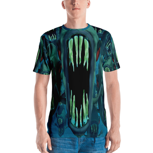 Mega Piranha 3D Unisex Four-way Stretch Polyester Blend Jersey, XS - 2XL